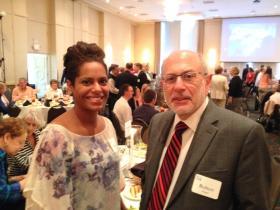 Graduate Fellow Fidias Reyes and Robert Siegel