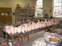 Vicky Smith's ceramic studio at UNCW