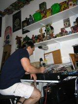 Tom Fleming at work in his studio