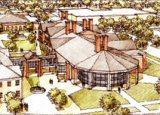 Architect's drawing of UNCW's Herbert and Sylvia Fisher Student Center.
