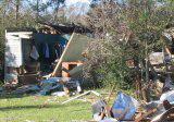 Tornado destruction in Riegelwood