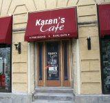 The location of Karen's Cafe from the iconic TV series One Tree Hill.  The site, at Front and Grace Streets in downtown Wilmington, is now active retail space.