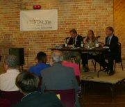 Panelists from WHQR, WECT, and the Star News ask questions of the candidates.