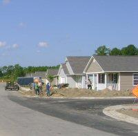 Work continues at Lena Springs Estates, one of the region's affordable housing developments.