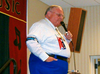 "Among other skills, Ralph Kornegay, ""The Doctor of Squares,"" is a noted square dance caller."