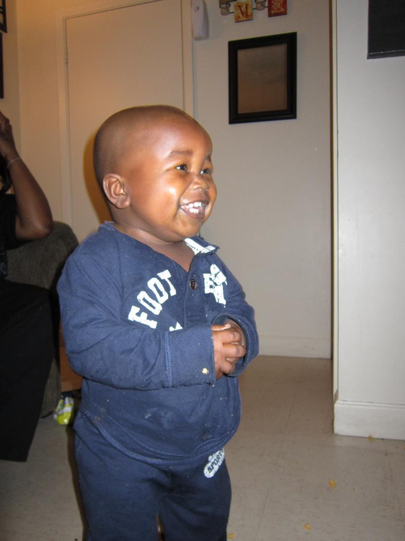 Sheera's youngest son Ishmel. Sheera was pregnant with Ishmel when she first came to the Good Shepherd Center.