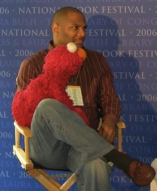 Kevin Clash, longtime voice of Sesame Street's Elmo, during an interview at the National Book Festival.