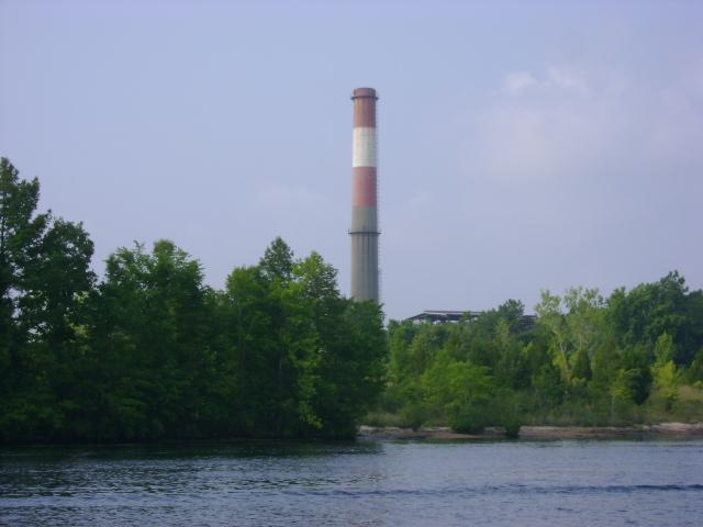 The site of Titan America's proposed cement plant as viewed from the Cape Fear River. The area once housed the Ideal plant.