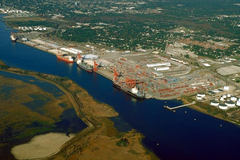 Aerial view of the port of Wilmington