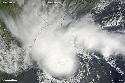 Satellite imagery of Tropical Storm Alberto