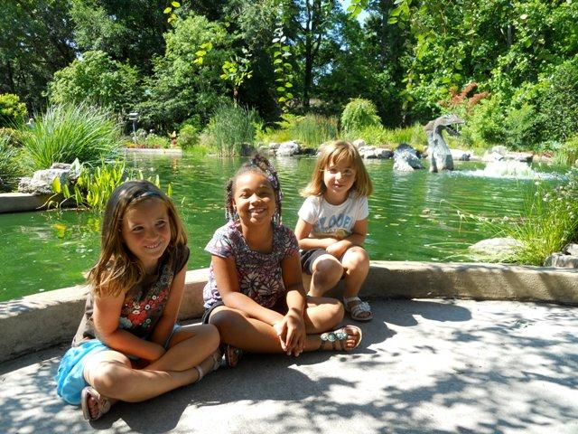 My daughters Kate and Maggie, and my niece Jaden. At the Arboretum.