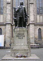Statue of Bach at St. Thomas church, Leipzig