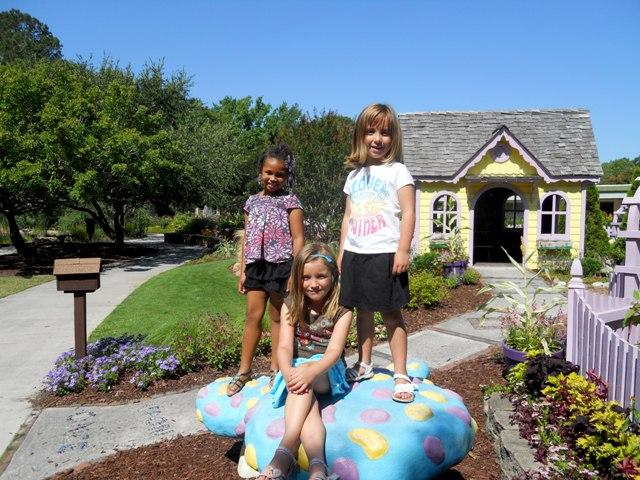 My niece Jaden, daughters Maggie and Kate. At the Arboretum.