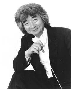 Seiji Ozawa, conductor of the Boston Symphony Orchestra.