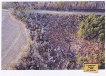 Illegally released hog waste in Browders Branch and Wetland at Silver Spoon Road in Columbus County