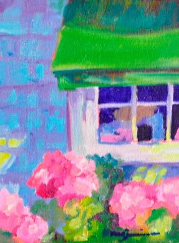 Hydrangeas In Window / Barbara Bear Jamison