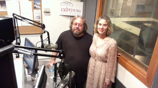 On the left, Steve Vernon, Artistic Director of Big Dawg Productions.  On the right, Melissa Stanley, Director of the current show.