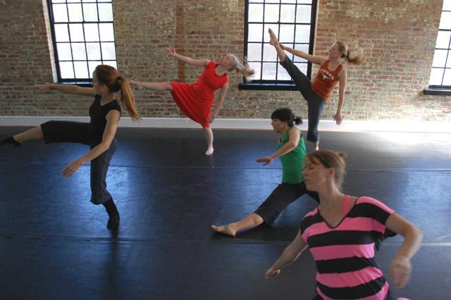 "Dancers rehearse ""Beautiful Lives"" at The Dance Cooperative."