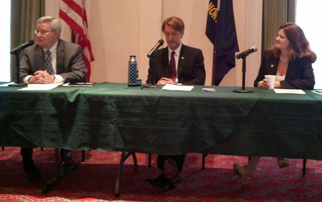 Legislative leaders caucus, January 3, 2013, in downtown Wilmington