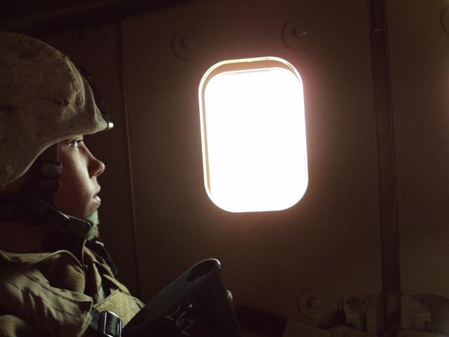Sgt. Blackburn-Hoelscher on convoy
