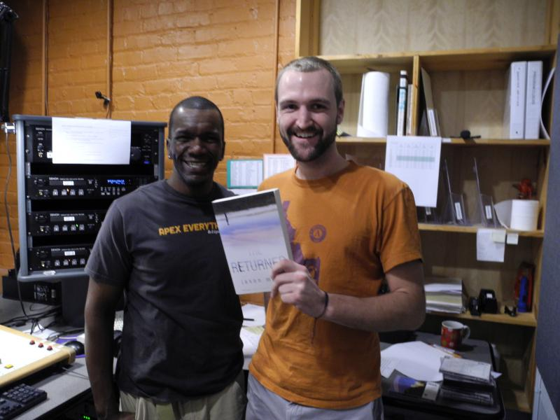 Author Jason Mott (left) with WHQR Graduate Fellow Jason Hess