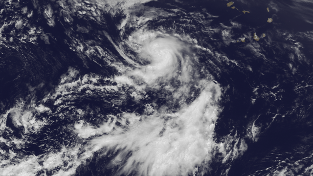 Tropical Storm Dorian on July 24, 2013, from NOAA's GOES East satellite