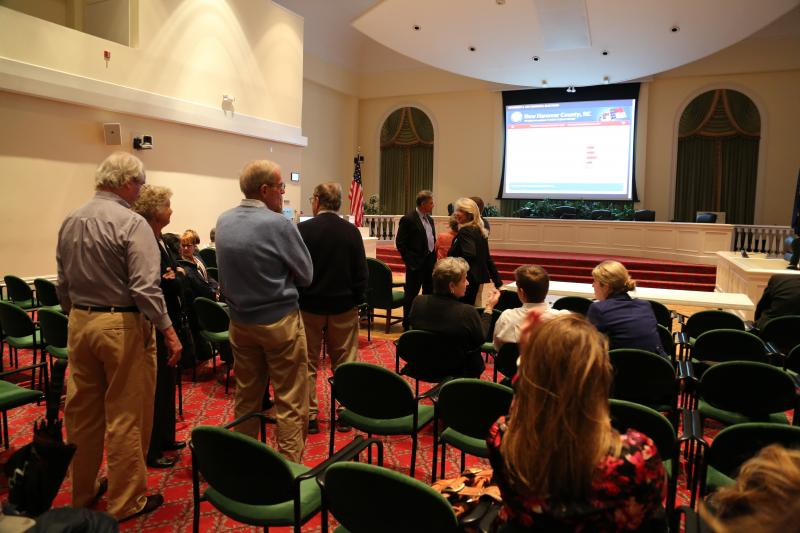 The mood in city hall chamber was tense as candidates and their supporters awaited results.
