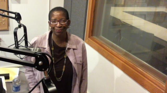 Holmes in studio at WHQR