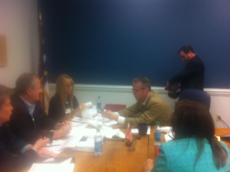The Board of Elections met to recount votes this morning at the New Hanover County Government Center.