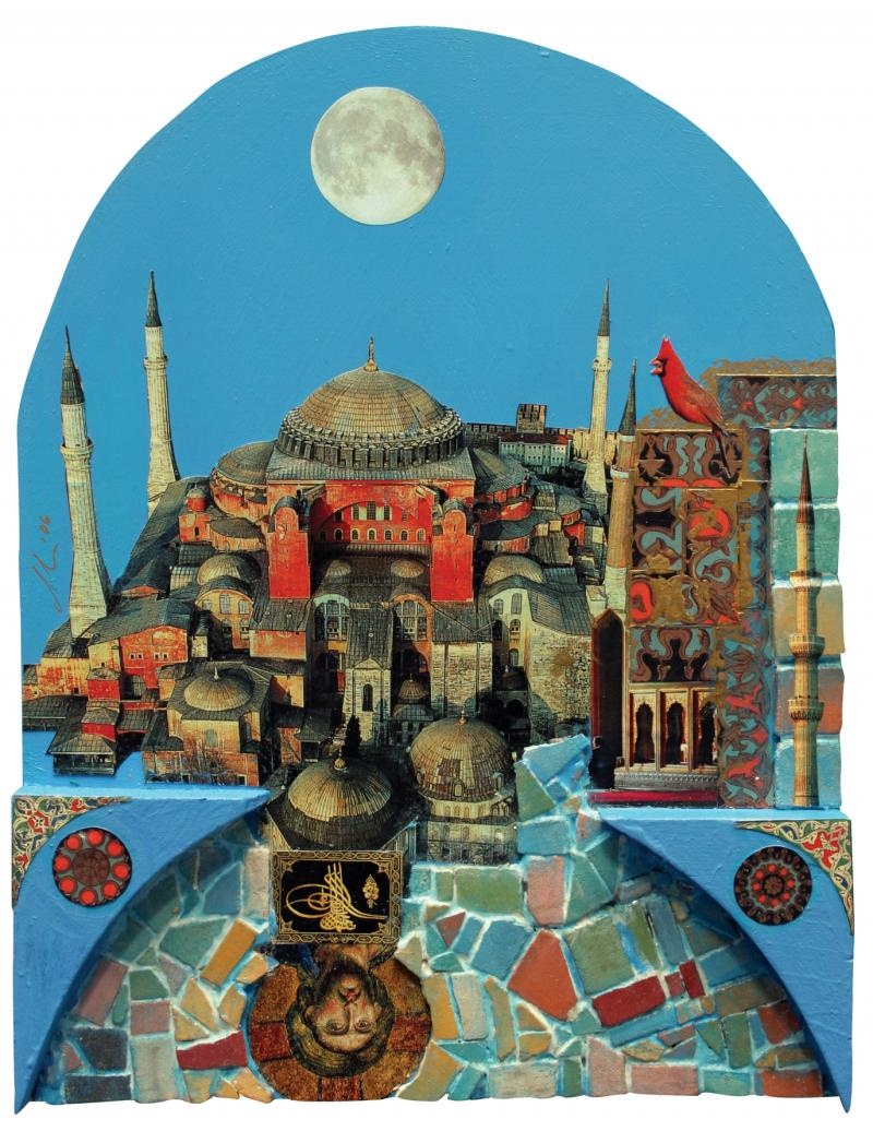 """The Same Sky, The Same Moon, Even Over Istanbul"" by Diane Hause"