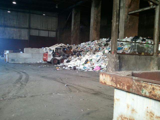 Dumping recyclables at the defunct Wastec facility