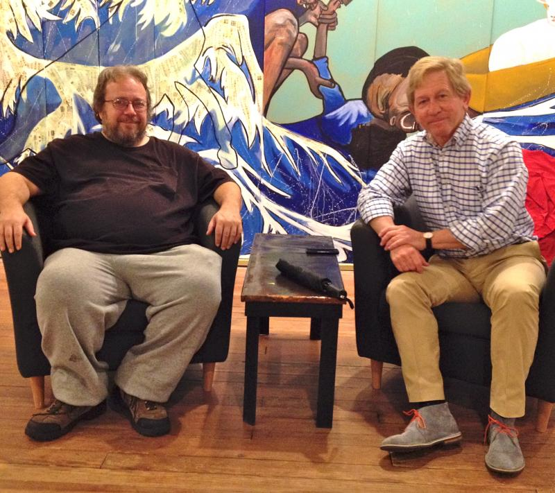 Grudzien and Vernon in The MC Erny Gallery at WHQR