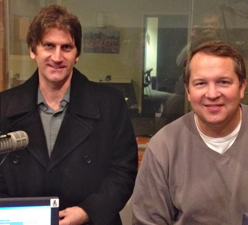 Staton and Phillips in Sudio 1 at WHQR
