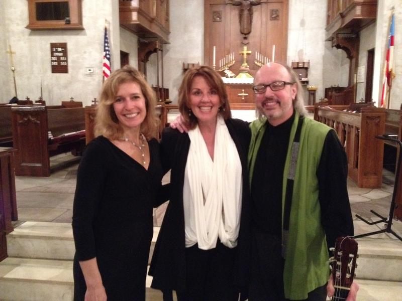Suzanne Bona, Barbara McKenzie and Richard Goering after Friday night's concert