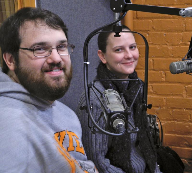 Smith and Auten at WHQR in Studio 1