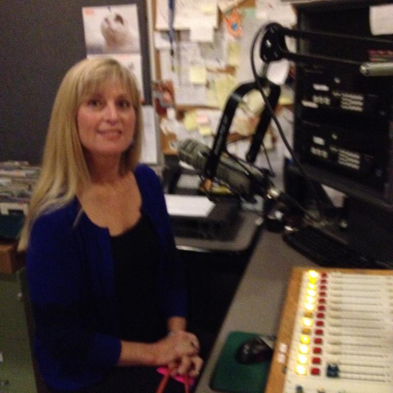 Beverly Andrews in-studio at WHQR
