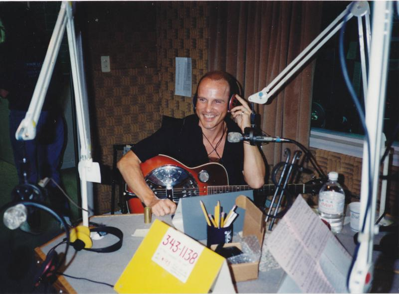 "William ""Paco"" Strickland, hosting ""Flamenco Cafe"" live during a pledge drive"
