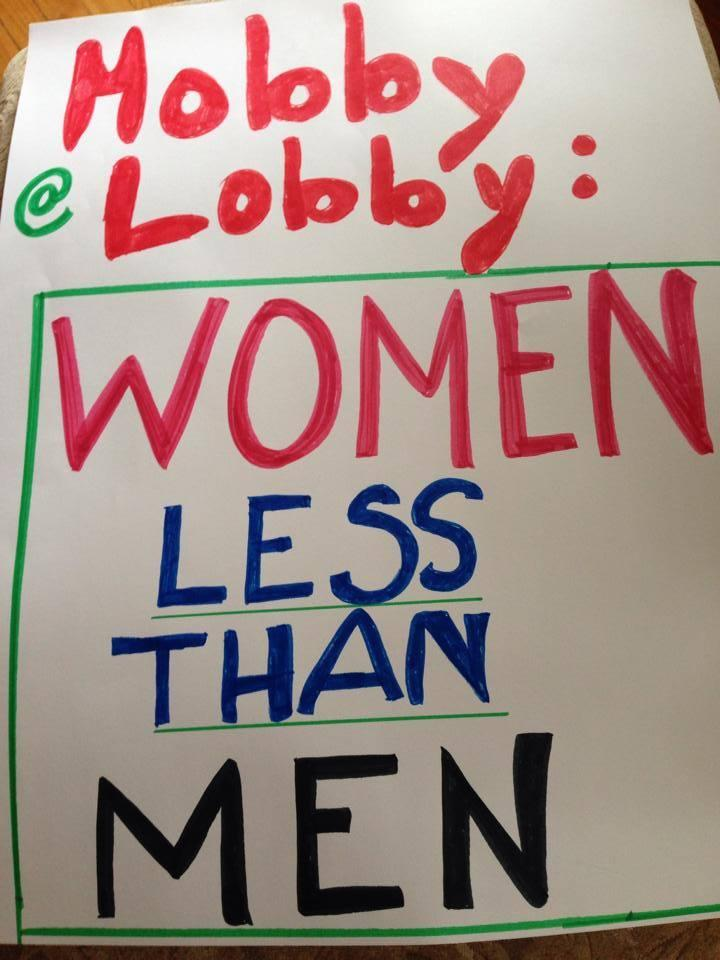 WOW's supporters included 25 sign-bearing, local women's rights activists and humanists.