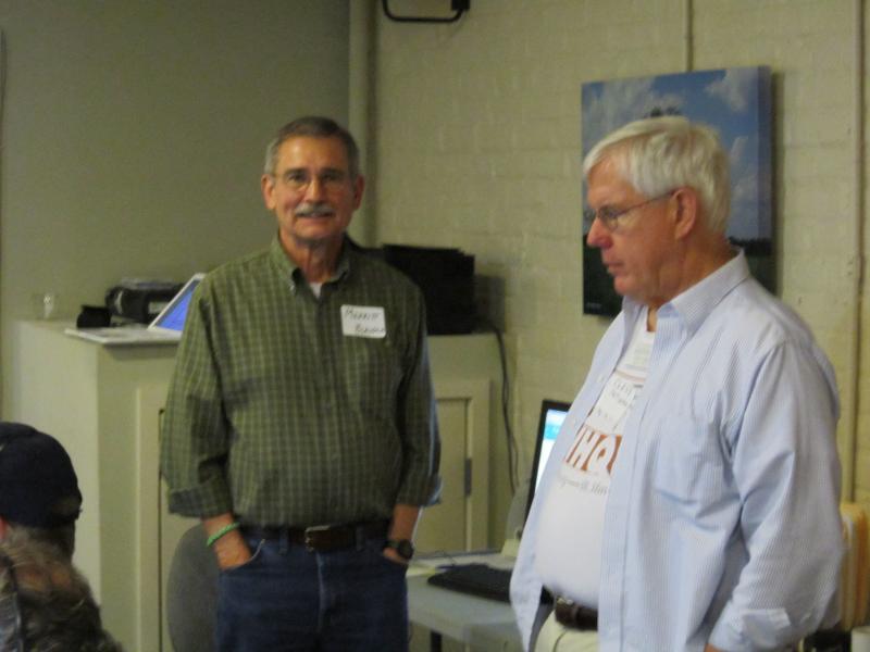 Merrit (left,volunteer computer programmer) and station manager Cleve