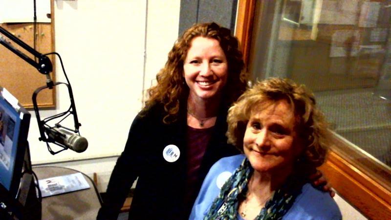 Eden (Left) and Rosoff in Studio 1 @ WHQR