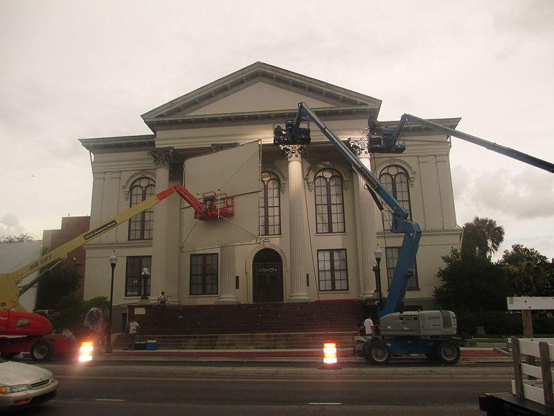 Filming at Wilmington's City Hall, July 2012