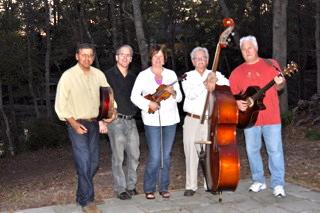 Whiskey Creek from left to right: Dave Storniolo, Rick Olsen, Deb Ross, Dargan Frierson, Philip Gerard