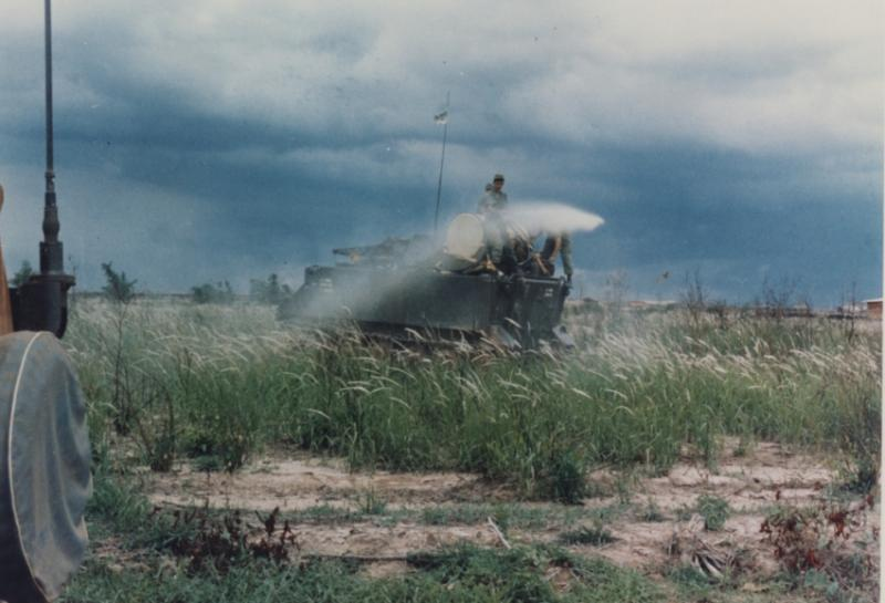 U.S. Army operations spray Agent Orange in Vietnam.