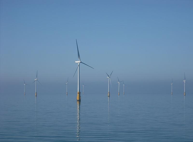 Offshore wind turbines in the Irish Sea off Walney Island