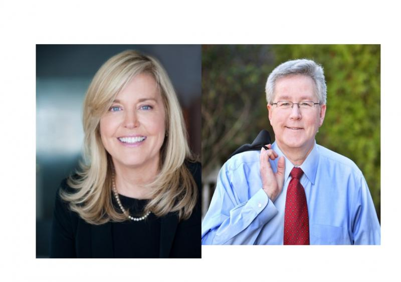 Betsy Jordan (left), Rep. Rick Catlin (right)