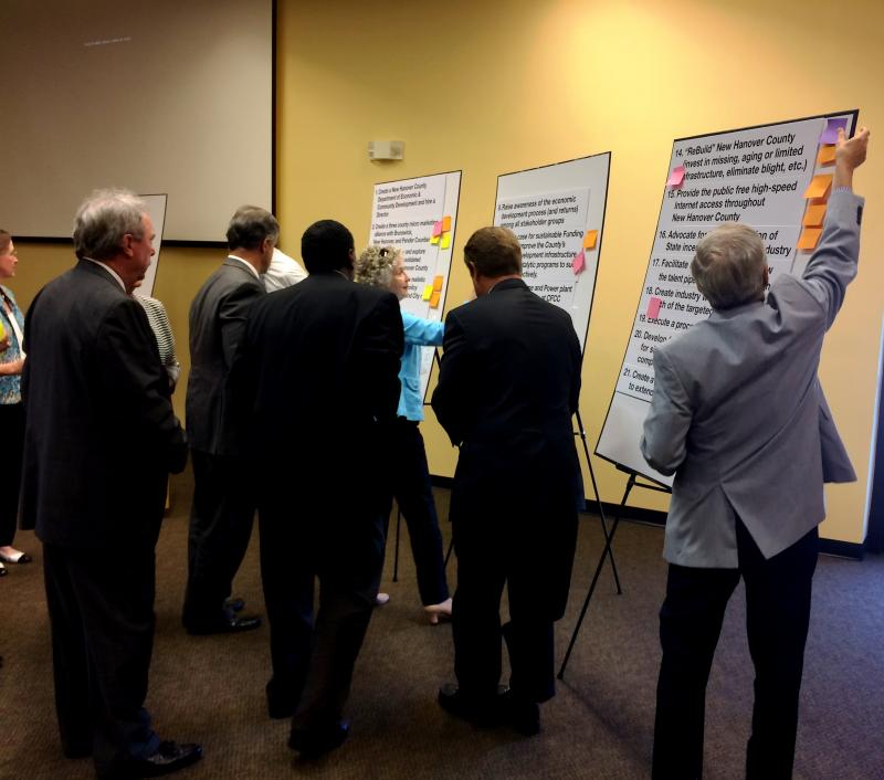 New Hanover County commissioners and Wilmington City Council members collaboratively identify barriers to business in the region.