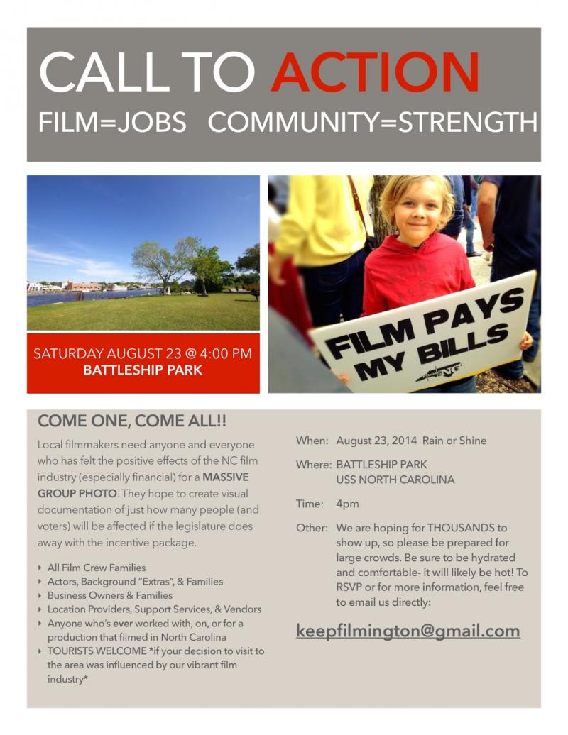 Flyer for Film Community Group Photo
