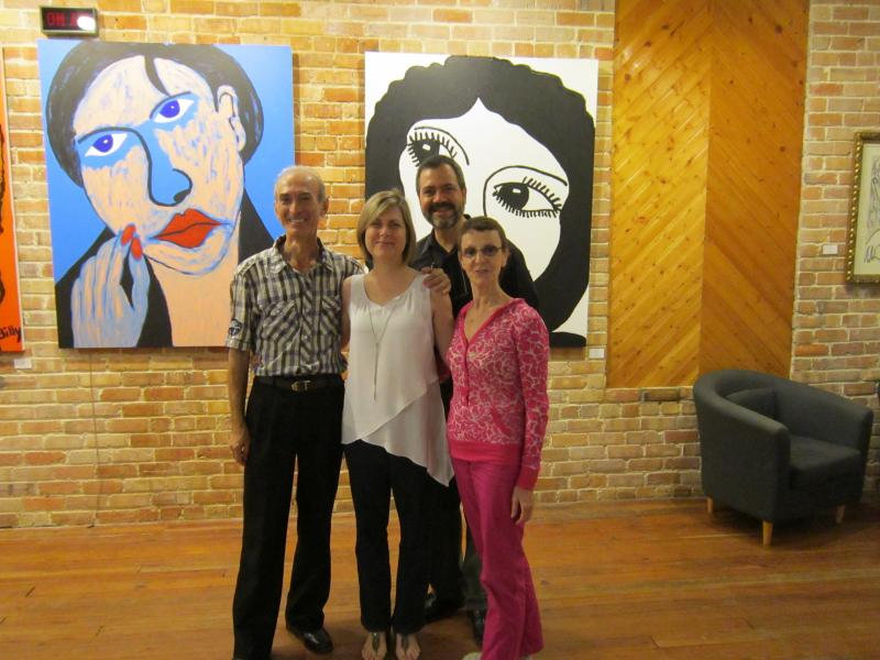 From Left: Rafael Grigorian, Andrea Hill, Alex Hill, Nina Danilova