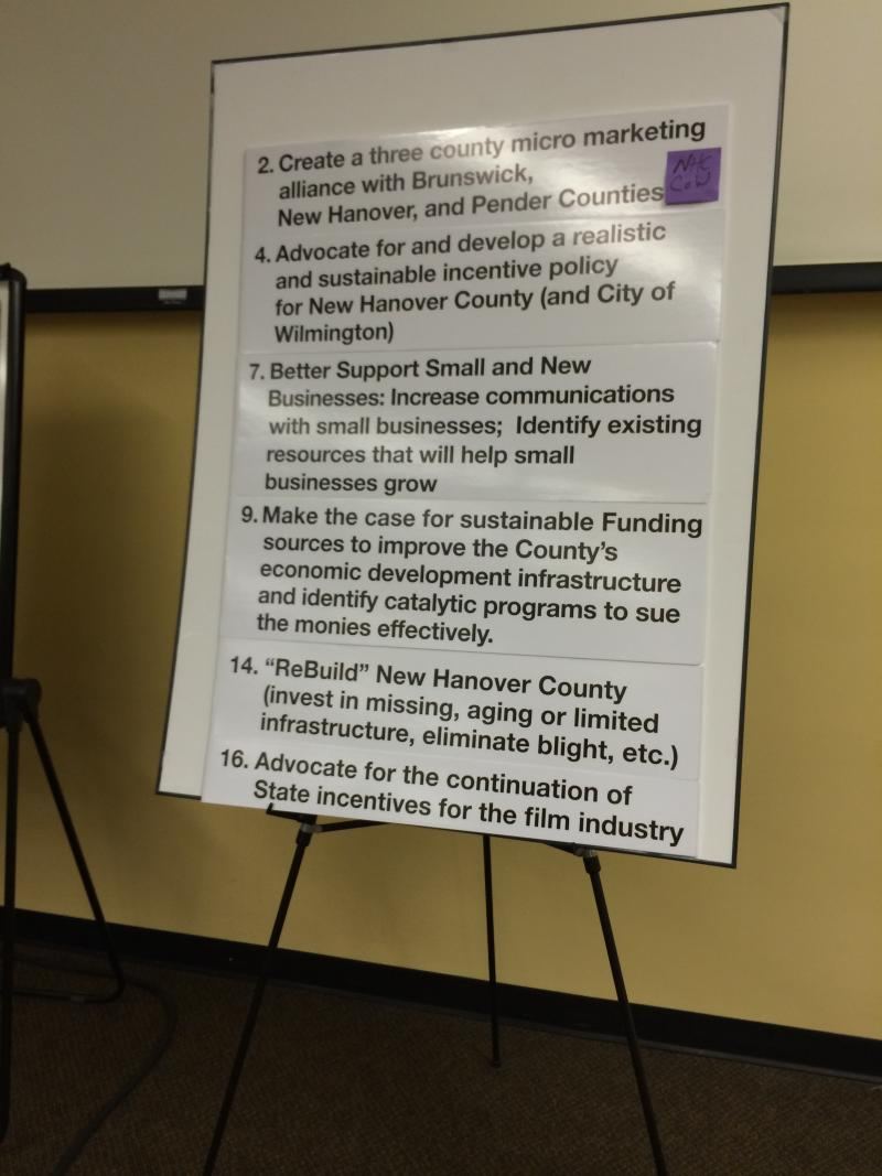 Out of 21 Garner report recommendations, the Wilmington City Council and New Hanover County Board of Commissioners chose to focus on these six objectives.