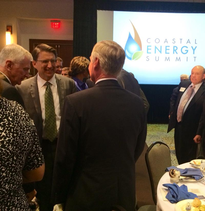 Governor Pat McCrory came to Wilmington for the first annual Coastal Energy Summit, hosted by the Greater Wilmington Business Journal.